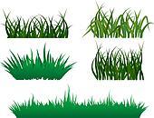 Grass Clip Art - Royalty Free - GoGraph