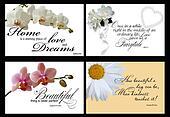 4 inspirational card vectors