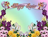Easter floral border