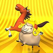 Smile Horse And Sheep