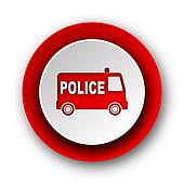 police red modern web icon on white background