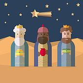 The three Kings of Orient, wise men