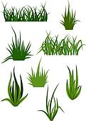 Green grass patterns