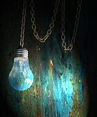 Grunge Lightbulb Graphic