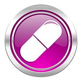 drugs violet icon medical sign