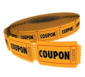 Coupons Passes Ticket Roll Vouchers for Savings Admission Reservation