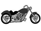 Gray And Black Motorcycle