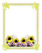 Floral border springtime