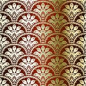 Bronze seamless peacock sari pattern