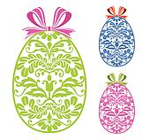 Easter ornaments eggs