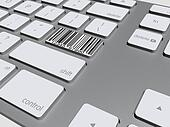 barcode button on the keyboard