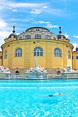 Hungary: Szechenyi bath spa in Budapest.