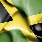 Jamaica waving flag