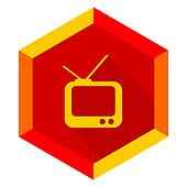 tv flat design modern icon