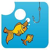 Fathers fish lesson