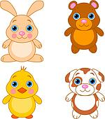 Cute animals set 01