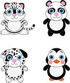 Cute animals set 02