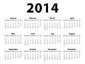 Calendar 2014 Landscape