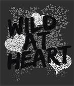 wild heart animal graphic print
