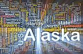 Alaska state background concept glowing