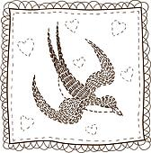 Handkerchief with embroidery.