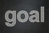 Marketing concept: Goal on chalkboard background