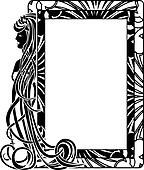 Ornamental frame in style Art Nouve
