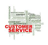Word tags wordcloud of customer service