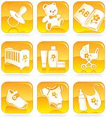 Icon set - baby shopping