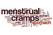 Menstrual cramps word cloud