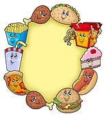 Various cartoon food frame