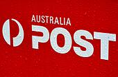 Australian post office box sign and symbol