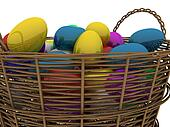Basket with golden eggs