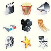 Movie icons.