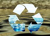 Recycling water, environmental concept, water pollution