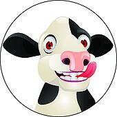 Cow cartoon head