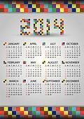 2014 wall brick calendar eps10
