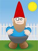 Garden Gnome - Vector