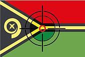 Sniper Scope on the flag of Vanuatu