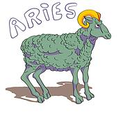 aries sign colored