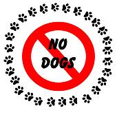 no dogs footprints