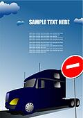 Cover for brochure with lorry image and no entry traffic sign