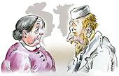 Seniors doctor and woman patient