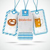 Oktoberfest Price Stickers Beer Pretzel