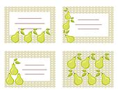 Fruit labels with pears
