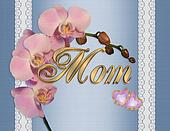 Mothers day card pink orchids
