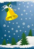 Christmas winter background with toys and gifts.