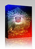 Buddha illustration box package