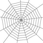 Spider Web Clip Art - Royalty Free - GoGraph