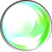Colored transparent sphere